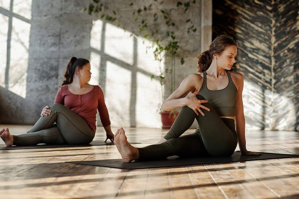 Woman Doing Yoga CBD
