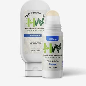 CBD Freeze Gel Squeeze Bottle and Roll On