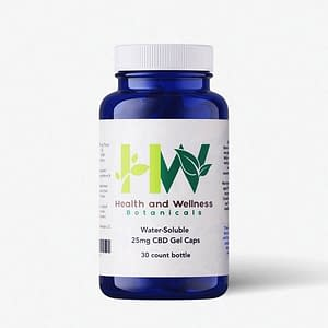water soluble cbd gel capsules 25mg 30 count