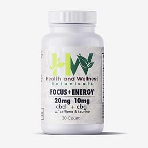 Focus and Energy CBD Gel Capsules