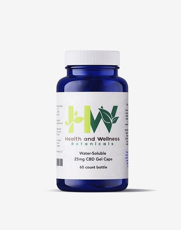 water soluble cbd gel capsules 60 count